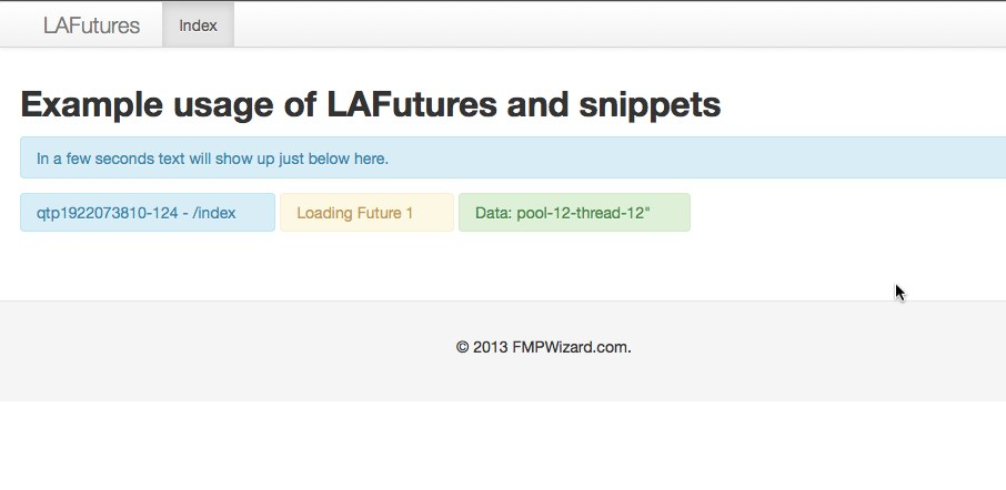 LAFutures and Lift snippets